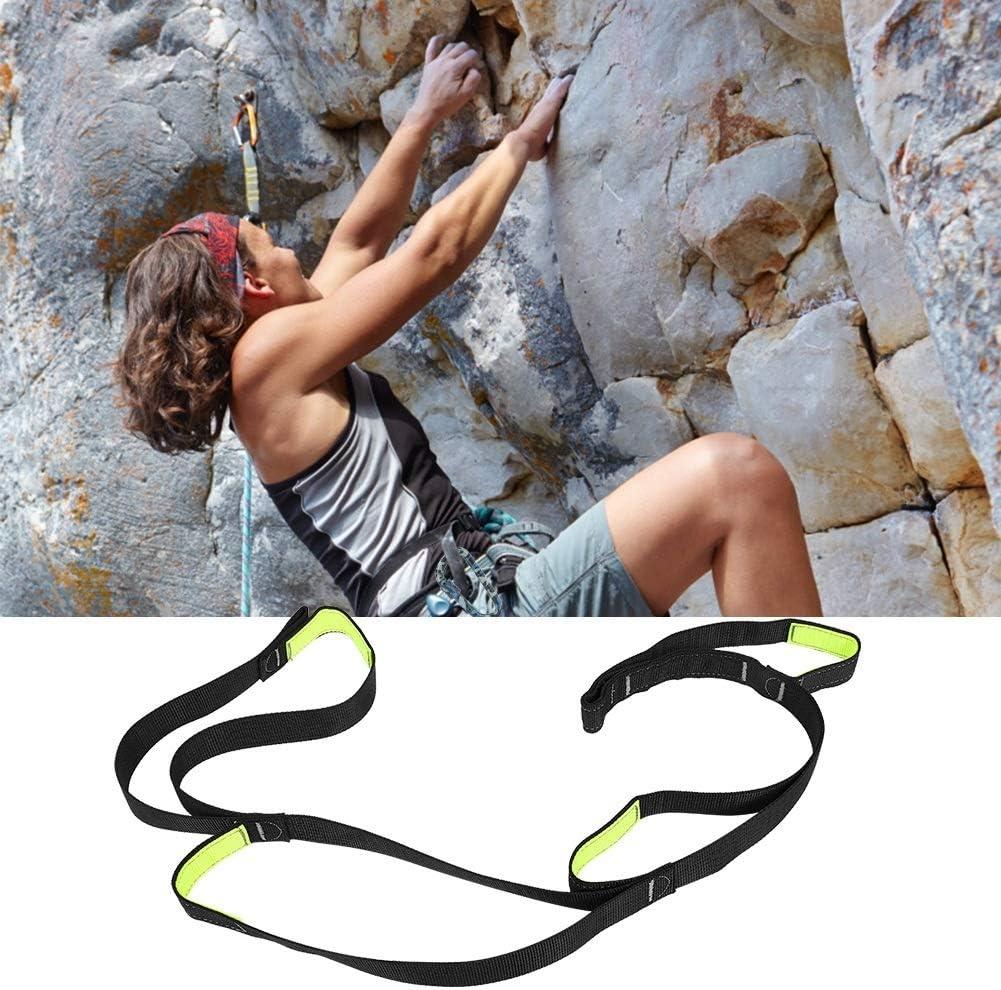 Outdoor-Sicherheitsseil MAGT Bergsteigen Kletter-Fu/ßpedal Bergsteigen im Freien Klettergurt Lastlager Wandern Verstellbarer Flacher Gurt ideal zum Klettern schwarz