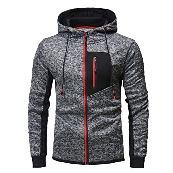 Amazon.com: 2018 Mens Autumn Winter Zip Casual Long Sleeve Slim Pocket Fit Hoodies Jacket Coat Clearance: Clothing