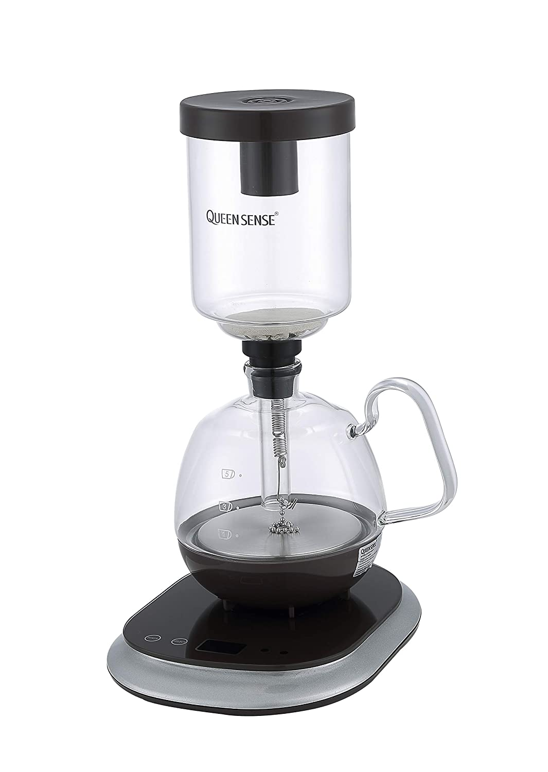 [Factory Store] QUEEN SENSE Siphon Coffee Maker Electric Coffee Pot CM0601 (Siphon Coffee Maker)