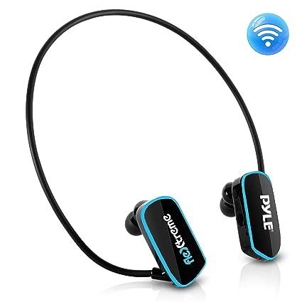 Pyle PSWP6BK - Auriculares sumergibles para reproductor MP3, auriculares IPX8 de estilo envolvente e impermeables