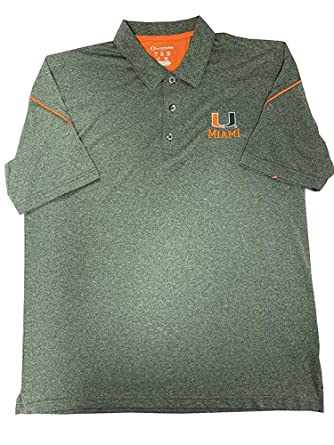 Champion Elite Mens Miami Hurricanes Polo Shirt (Olive Heather ...