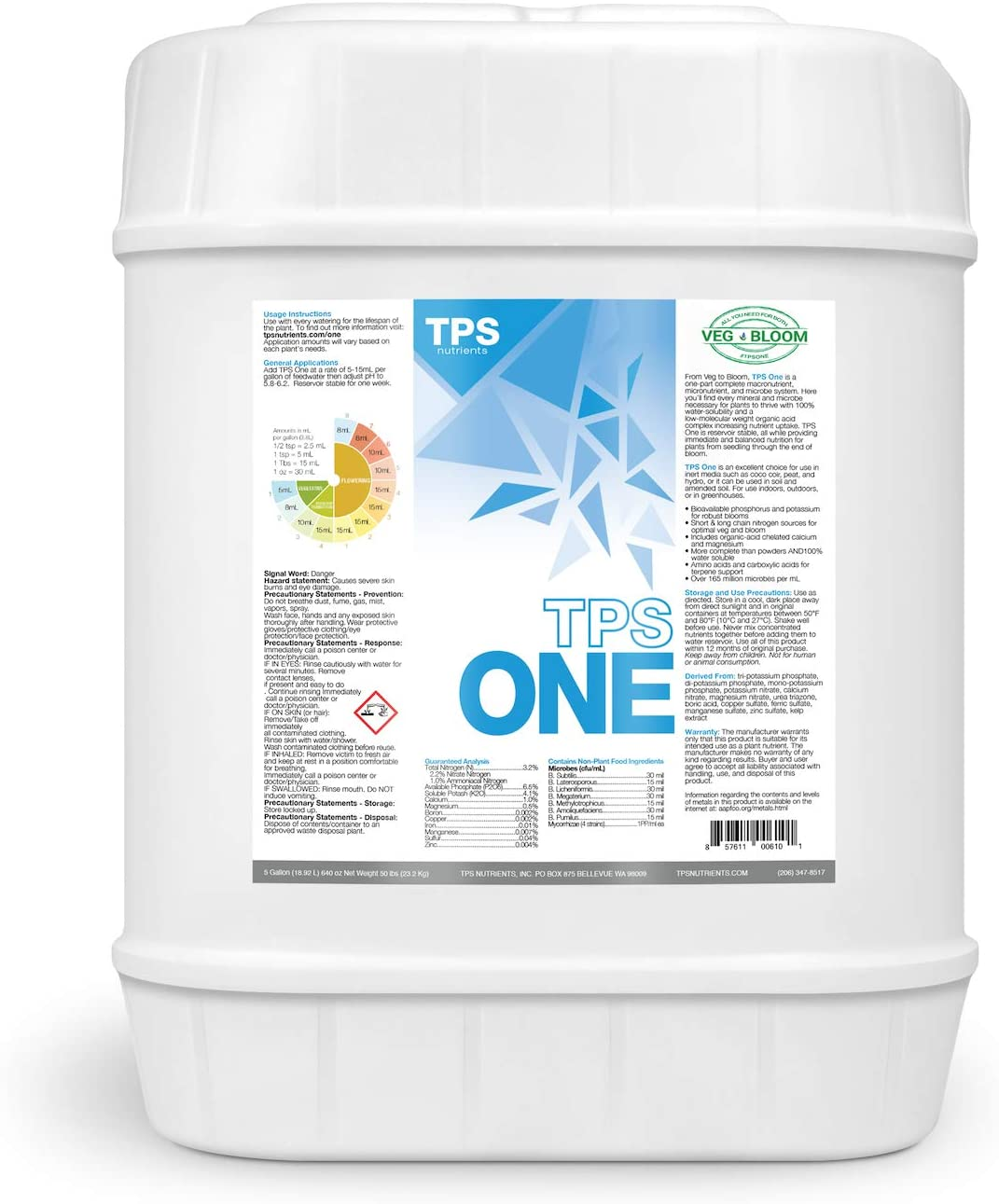 TPS-One Liquid One Part Nutrient