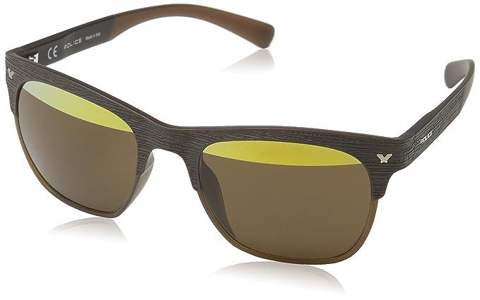 Police S1950V - gafas de sol Unisex adulto, Marrón (Semi ...