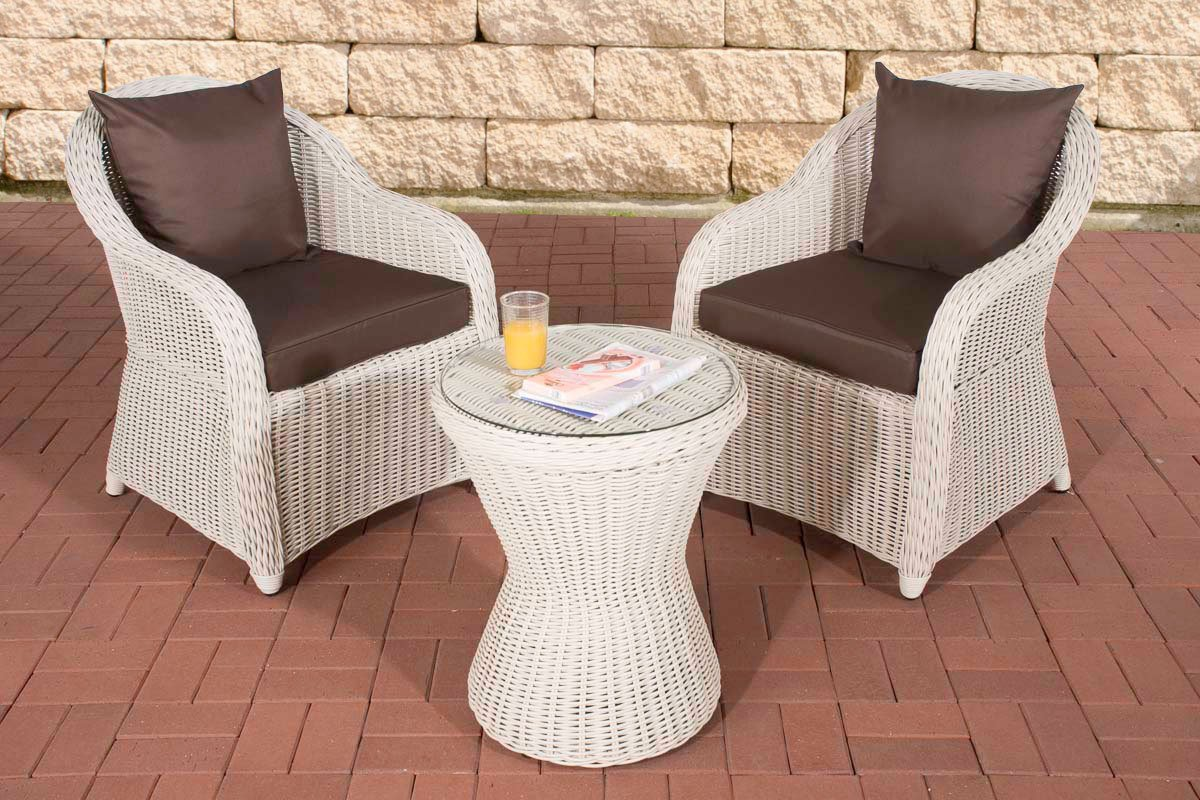clp poly rattan balkon set sandino stellfl che ca 3 qm 2 sessel beistell tisch rund 50 cm. Black Bedroom Furniture Sets. Home Design Ideas