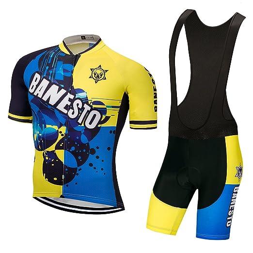 acf49c53f BANESTO 2017 Cycling Jersey Set Maillot Cycling Clothing Rock Racing (Black