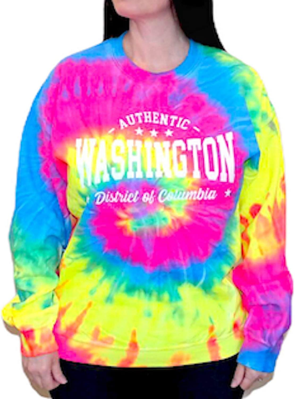Washington DC Tie Dye Sweatshirt Crewneck Unisex Men Women