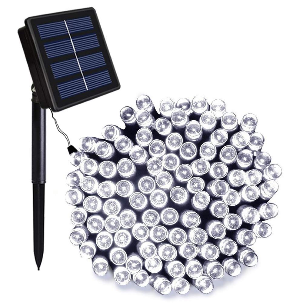 ORA 100 LED Solar Powered String Lights with Automatic Sensor Black 55 ft