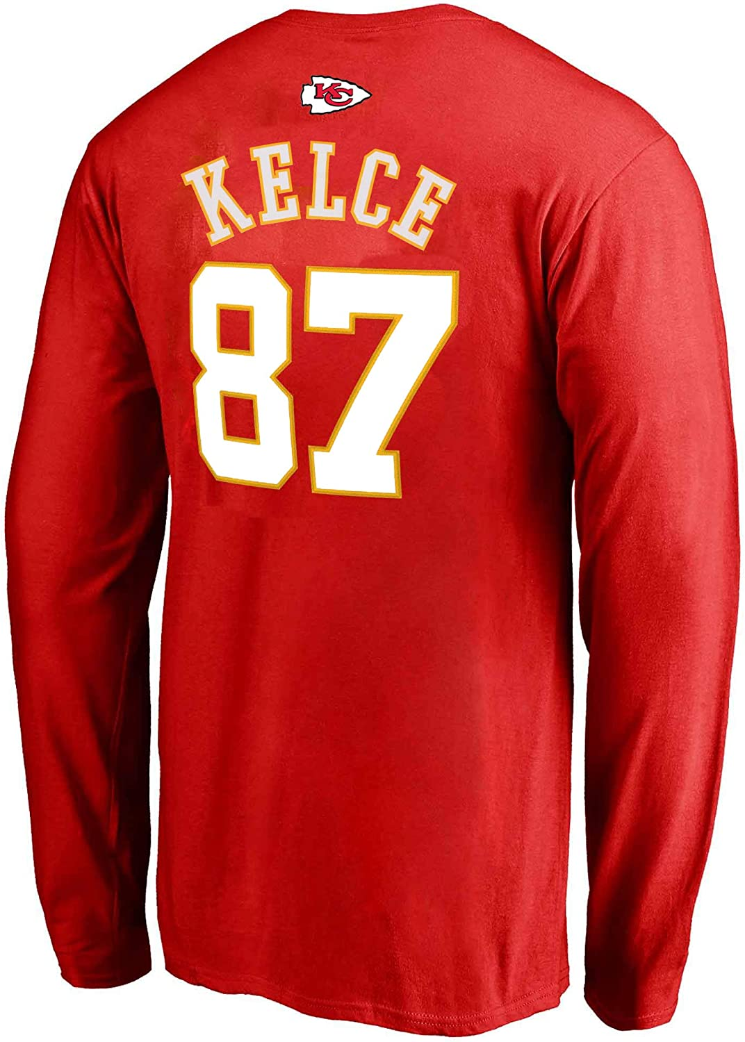 NFL Youth Team Color Mainliner Player Name and Number Long Sleeve Jersey T-Shirt