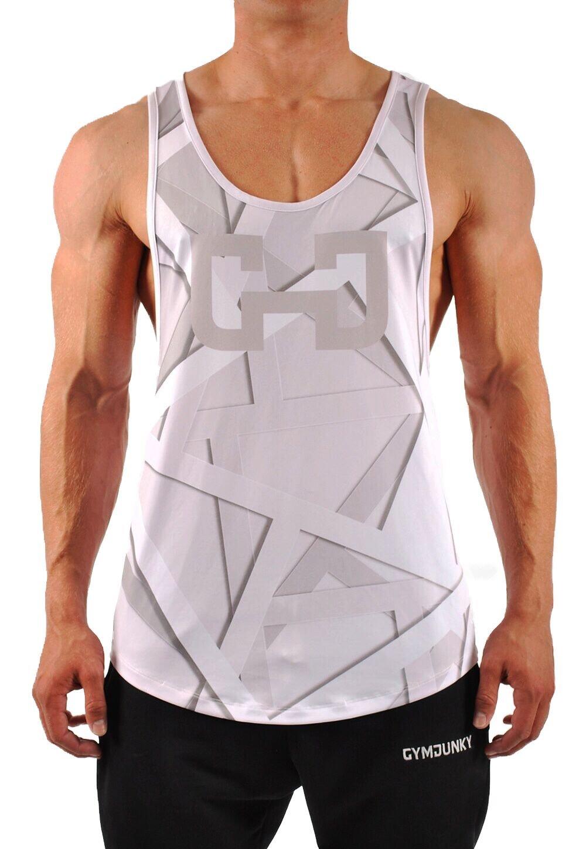 GYMJUNKY Fierce Tanktop - Tank Top Herren - Muskelshirt für Sport Gym Training & Bodybuilding - Sportshirt - Ärmelloses Trainingsshirt
