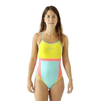 59d5126ead570 turbo Sport Jump (Thin Strap) for Schwimmerinnen Water Polo Triathlon –  Spaghetti Straps Neon