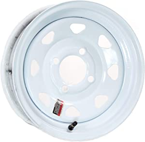2-Pack Trailer Wheel White Rims 13 x 4.5 Spoke Style 4 Lug On 4