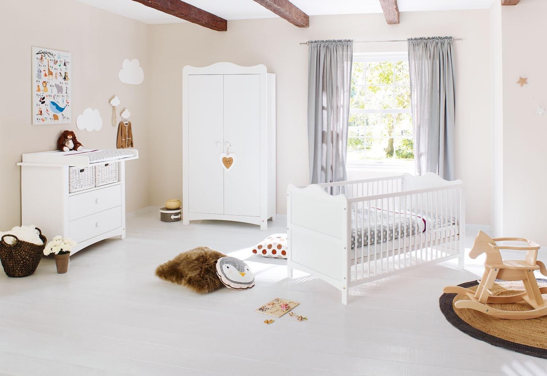 Pinolino 100023B Kinderzimmer 'Florentina' breit, weiß