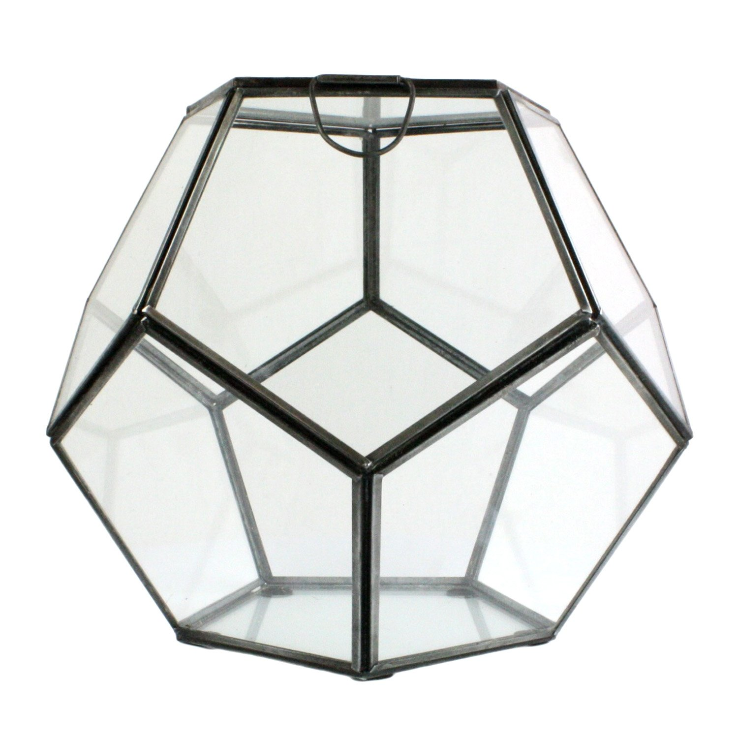 HomArt Pierre Faceted Glass Terrarium, Small, 1-Count by HomArt