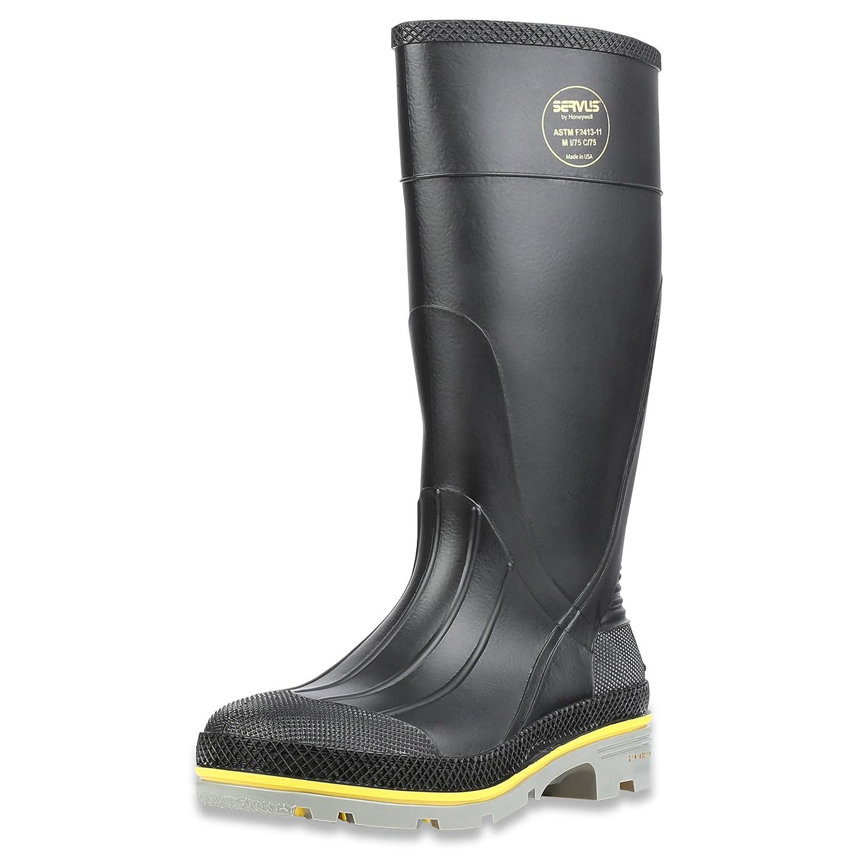 Servus XTP 15 PVC Chemical-Resistant Steel Toe Mens Work Boots Yellow /& Gray Black