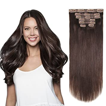Amazon heesaga 12 inch clip in extensions real human hair heesaga 12 inch clip in extensions real human hair extensions for women beauty 80 pmusecretfo Choice Image