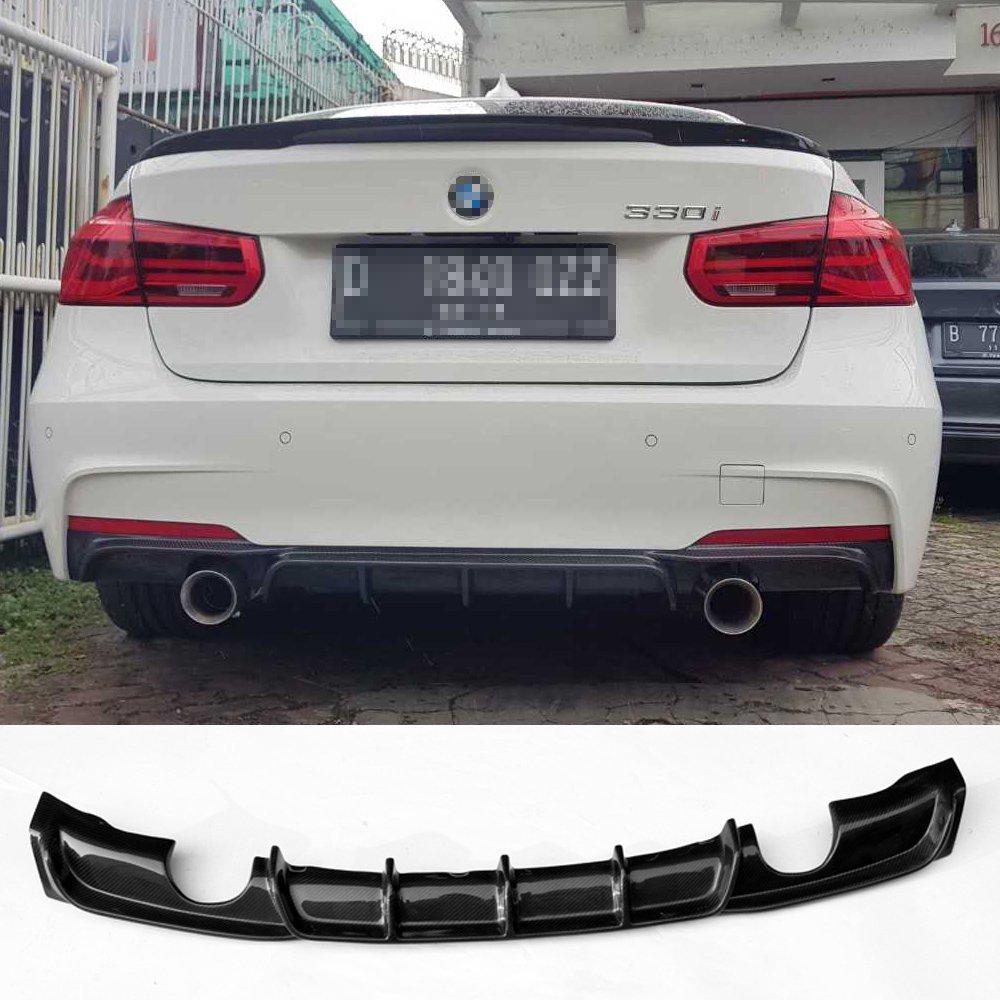 Amazon.com: Carbon fiber rear bumper diffuser for BMW 3 ...