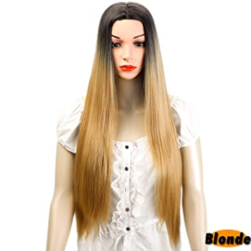 Shangke Wigs For Women Long Straight Cosplay Wigs Synthetic Hair Heat Resistant Hair Extensions & Wigs