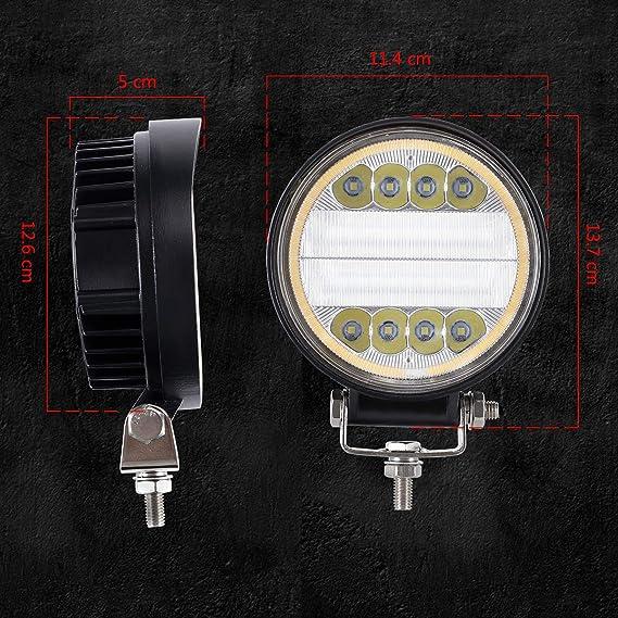 Eyourlife 2 Pcs Luces Diurnas Coche 3,2 20W LED L/ámpara Luz DRL Luz Foco Faro de Trabajo LED Luz de Conducci/ón Antiniebla Coche para Auto Veh/ículo Todo Terreno Jeep ATV SUV Barco Color Rojo