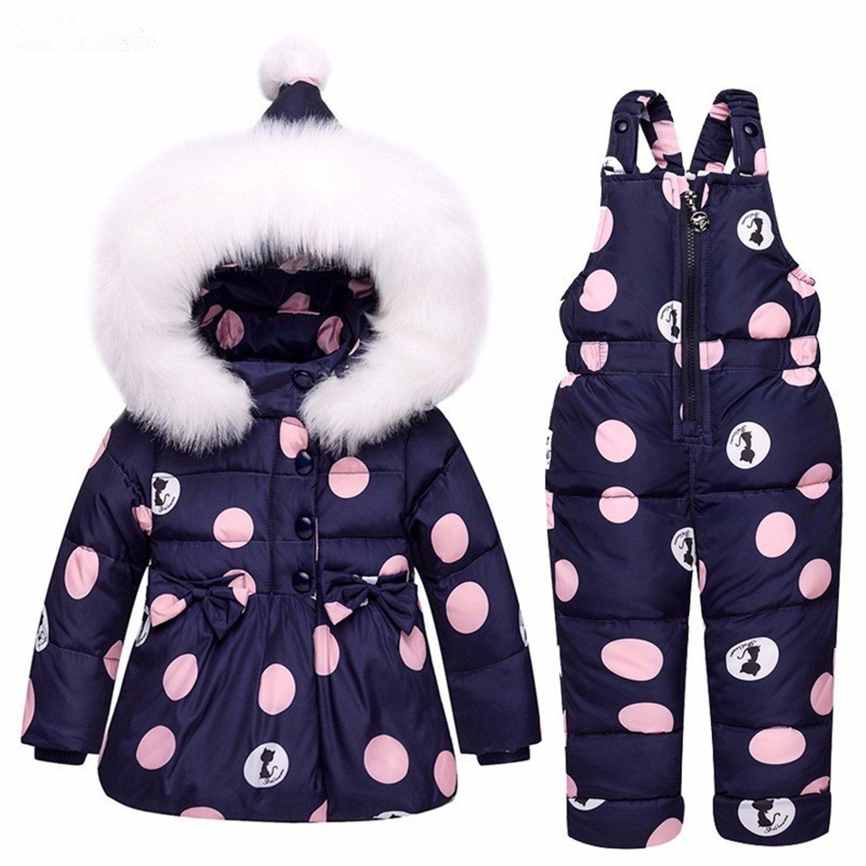 24913b47959c Acereima Kids Clothes Girls Down Coat Children Warm Toddler Snowsuit ...