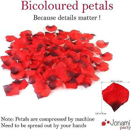 Deep Red Quality Silk Rose Petals Confetti Wedding anniversary Decorations