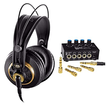 e7983407103 Amazon.com: AKG K240 Studio Semi-Open Over-Ear Professional Studio  Headphones with Knox Gear Headphone Amplifier: Home Audio & Theater