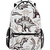 WXLIFE Animal Dinosaur Pattern Backpack Travel School Shoulder Bag for Kids Boys Girls Women Men