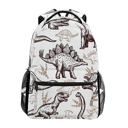 ef72cab41f3a WXLIFE Animal Dinosaur Pattern Backpack Travel Shoulder Bag for Women Men