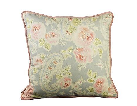 Tapidecor-Cojín flores rosa palo, tonos claros, 60x60cm ...