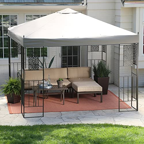 Coral Coast Garden Bloom 10 x 10 ft. Gazebo Canopy