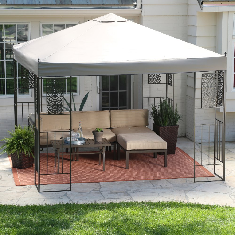 Amazon.com: Coral Coast Garden Bloom 10 X 10 Ft. Gazebo Canopy: Cell Phones  U0026 Accessories