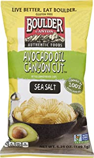product image for Boulder Canyon Authentic Foods Avocado Oil Kettle Cooked Potato Chips- 5.25 oz. Bags (Sea Salt, 3 Bags)