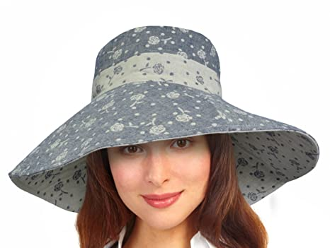 5459d7e19b43f Women Summer Sun Hat Protection Wide Brim Cap Foldable Floppy Bucket Hat   Amazon.ca  Sports   Outdoors