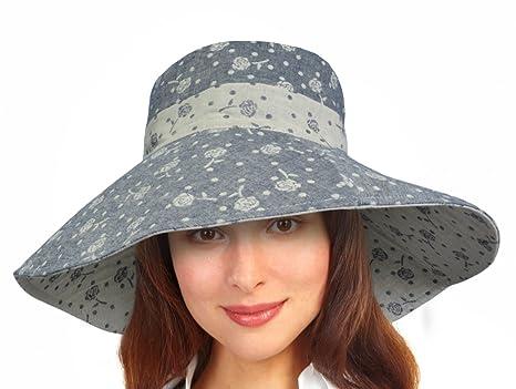 a8fc6410f07 Women Summer Sun Hat Protection Wide Brim Cap Foldable Floppy Bucket Hat   Amazon.ca  Sports   Outdoors