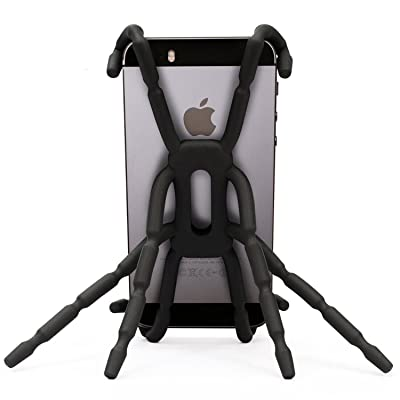 Newstylee Spiderpodium Portable Stand/Car Mount Holder for iPhone 5S/5C/5/4S/4, Samsung Galaxy S4/S3/S2/S (Black)