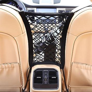modello universale e elastico Organizer per auto con rete di protezione e tasca portaoggetti supporto per acqua//cellulare//giocattoli