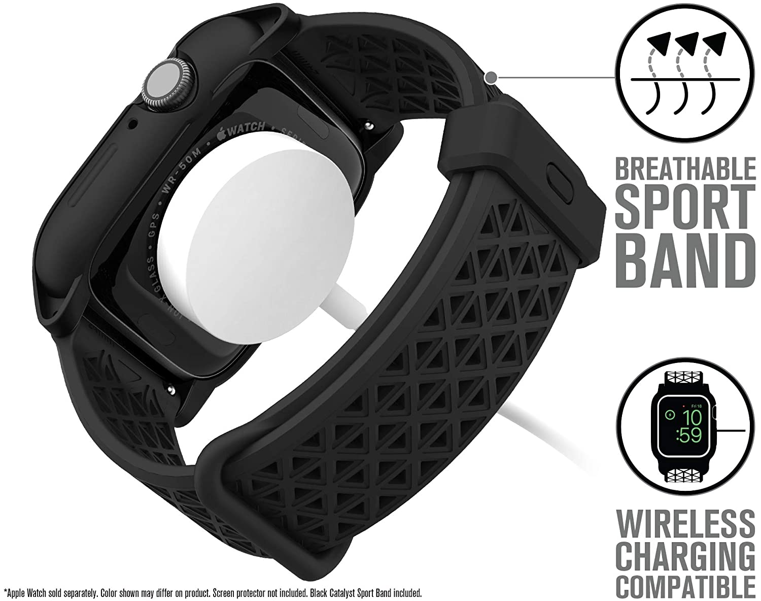 Catalyst Case for Apple Watch Series 5 and Series 4 44mm, Drop Proof 9.9ft, ECG and EKG Compatible, Superior Sport Band, Breathable, Rugged, Shock ...