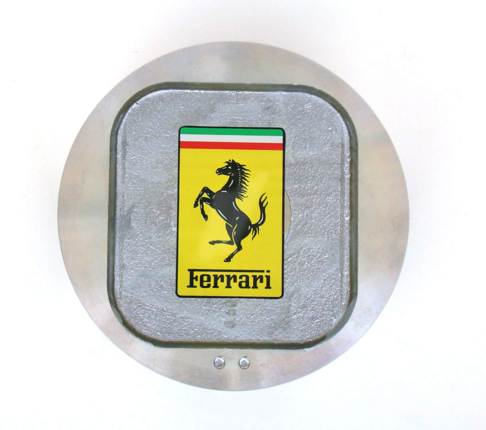 Italian Exotics Boutique Car Piston Paperweight with Ferrari Resin Decal