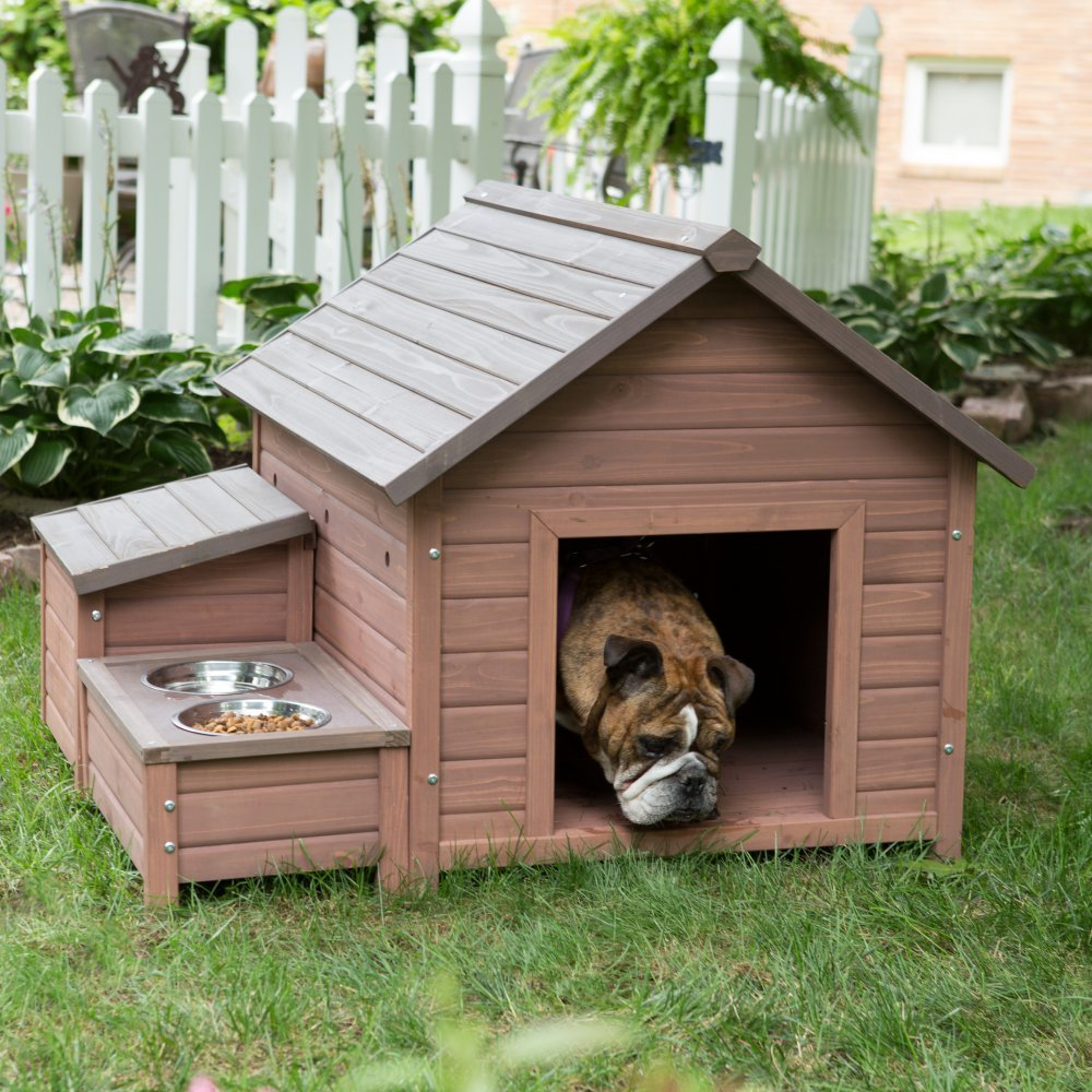 Indoor dog houses - Amazon Com Boomer George A Frame Dog House With Food Bowl Tray And Storage Cubby Pet Supplies