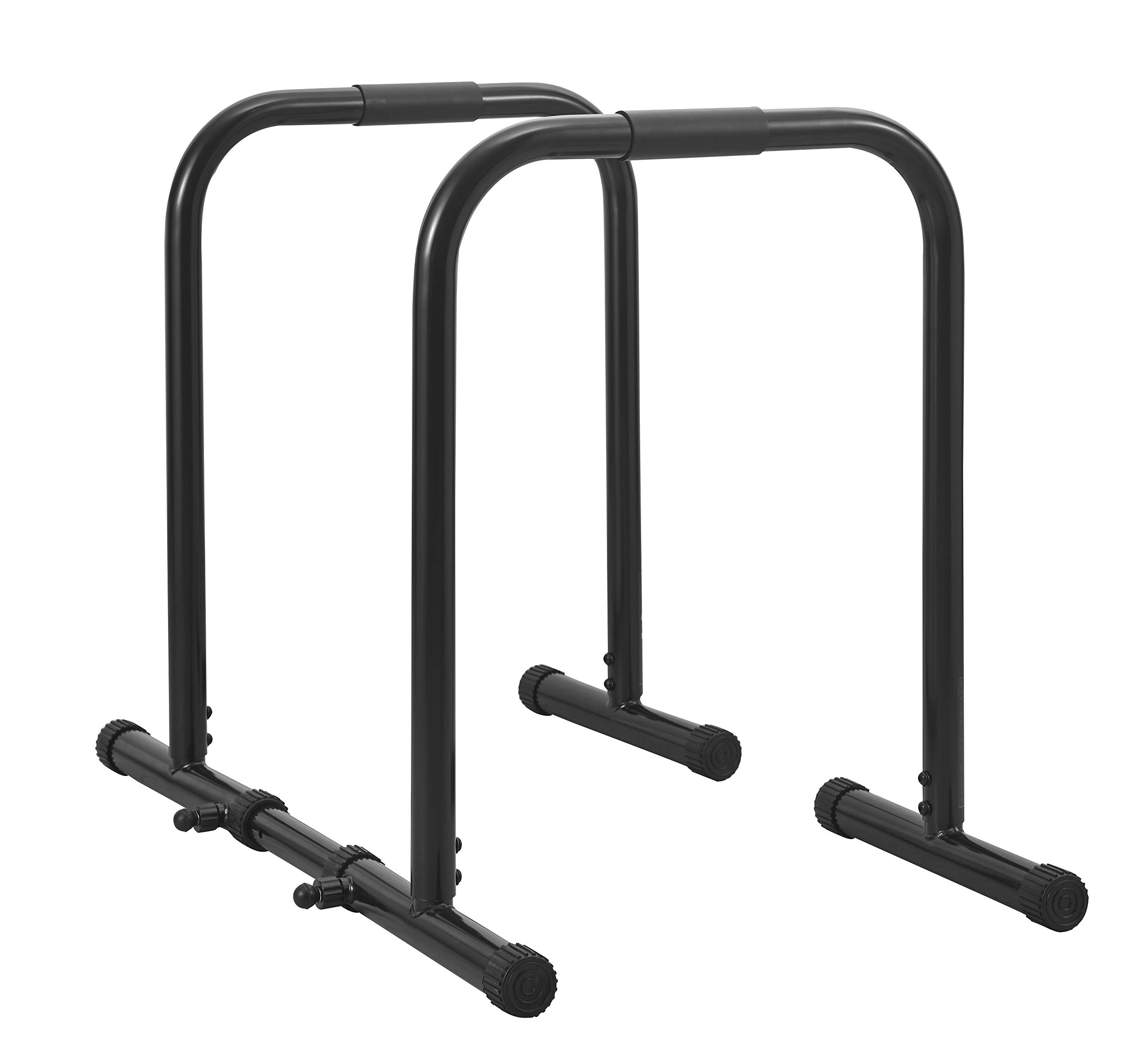 RELIFE REBUILD YOUR LIFE Dip Station Functional Heavy Duty Dip Stands Fitness Workout Dip bar Station Stabilizer Parallette Push Up Stand (Black) by RELIFE REBUILD YOUR LIFE (Image #1)