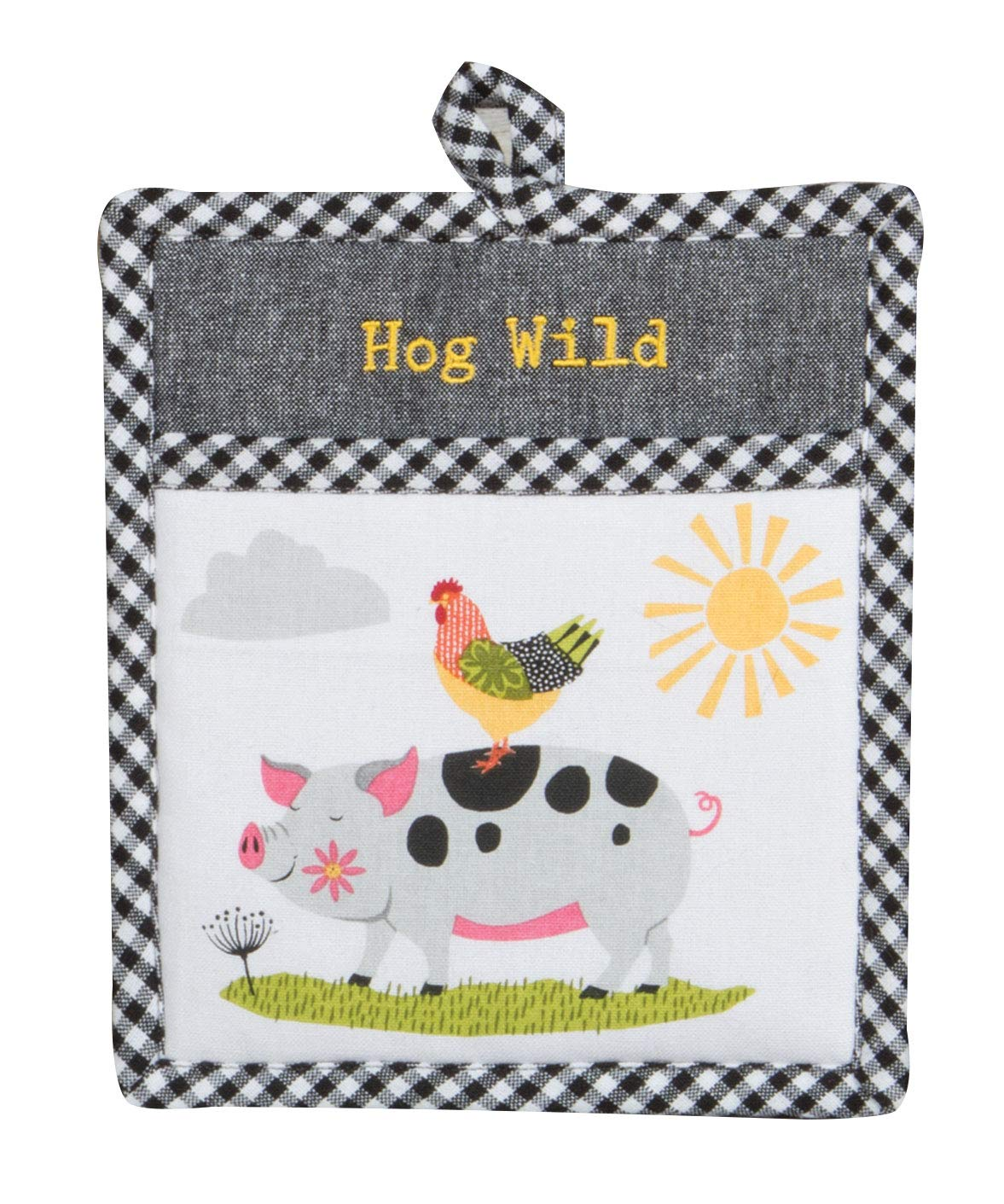Kay Dee Designs Farm Charm Pig Pocket MITT Pot Holder, 8 x 10, Various