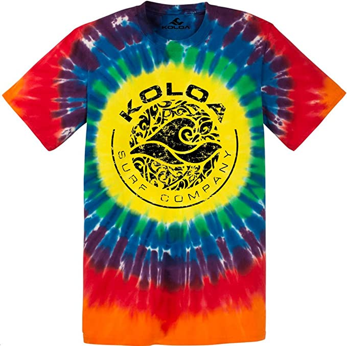 Colorful Tie-Dye T-Shirts in 17 Colors Koloa Surf Co Sizes S-4XL