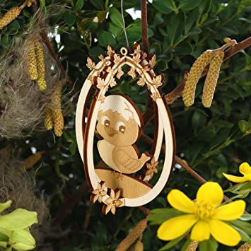 Osterschmuck 3D Ostereier Baum  Und Strauchbehang   Deko Aus Holz Für  Ostern, Motiv: