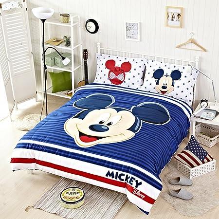 Disney Mickey Mouse juego de cama colcha juego de funda de