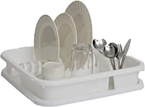 CELESTE HOME PRODUCTS Hawaii dish drainer for kitchen, organize your cutlery and dish on great quality, 2-piece Large Sink Set Dish Rack Drainer. Available in White