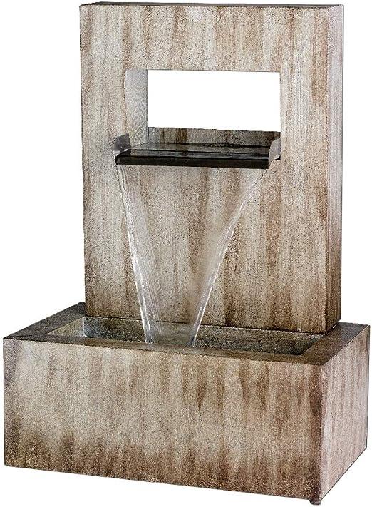 Lumineo Kaemingk Fuente de jardín Pared – cinc – 70 cm: Amazon.es: Jardín