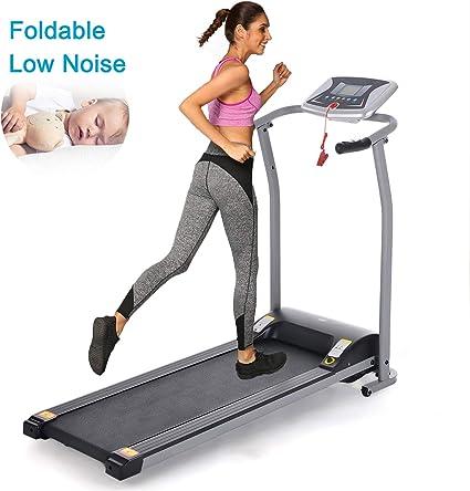 Bestlucky Folding Electric Treadmill,Power Motorized Fitness Running Machine Walking Treadmill
