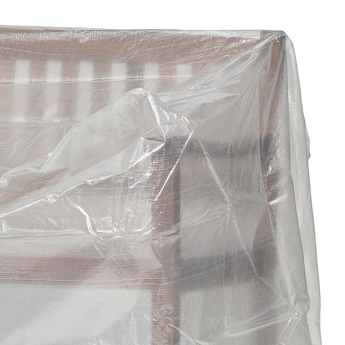 Schutzhuellenprofi B/âche de protection en PE pour banc de jardin 3 places Transparent Taille standard