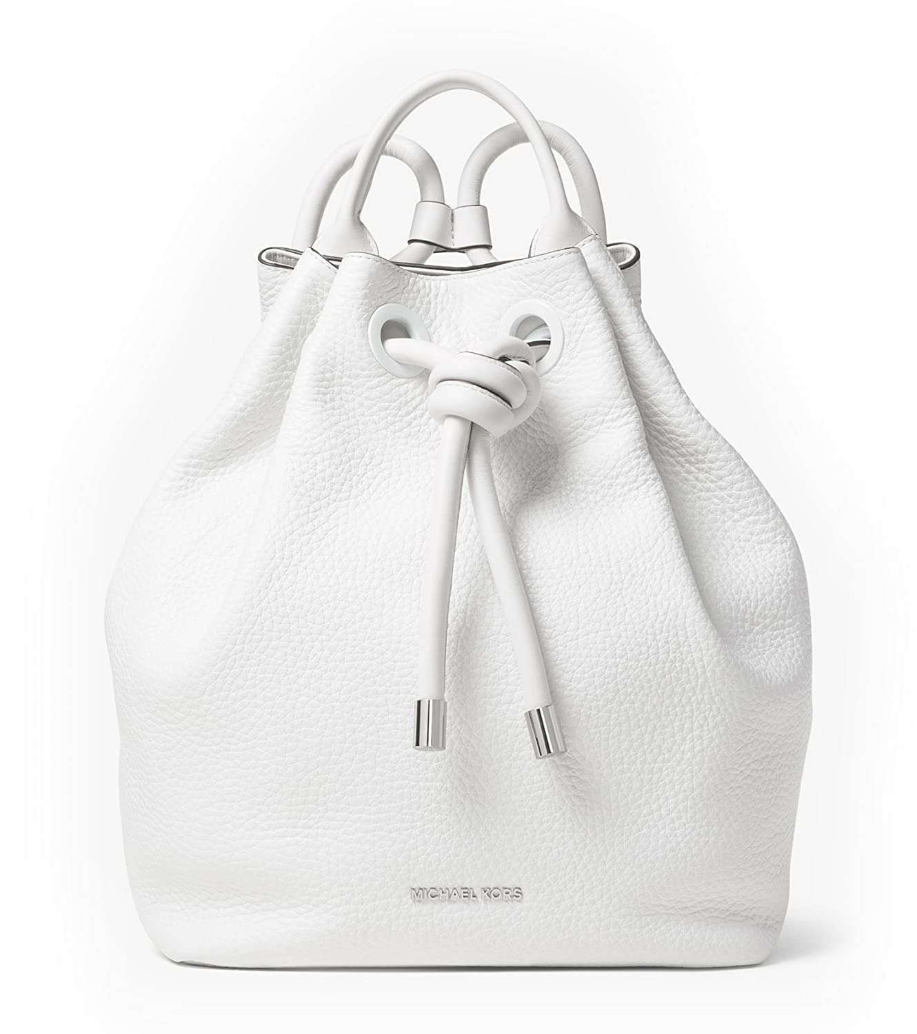 d8055417f0d4e7 hot sale 2017 Michael Kors Backpack Dalia Large Leather Back Pack In Optic  White