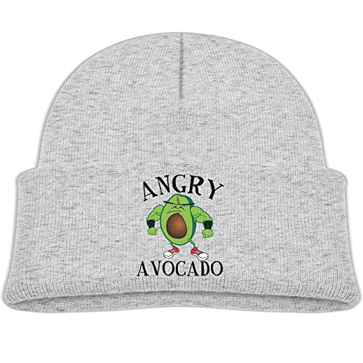 OHMYCOLOR Urban Angry Avocado Logo Kid Knit Beanies Hats For Boys Girls  Winter Woolen Child Trucker 764794b9e69d