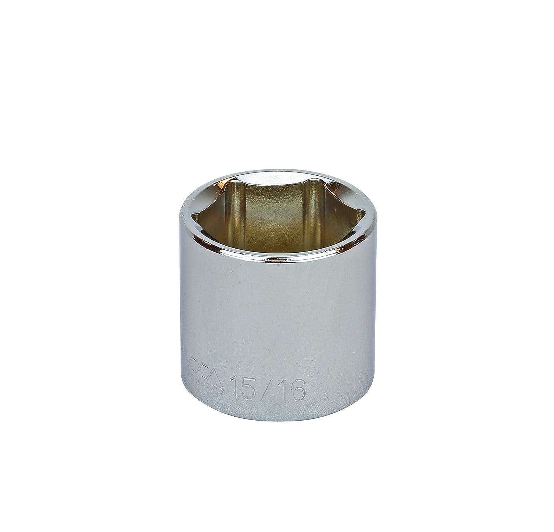 Proferred S19030 3//8 Drive SAE Socket 15//16 Standard 6 Point
